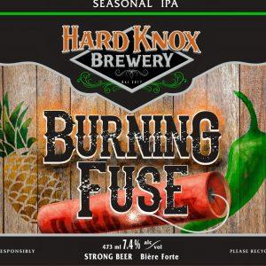 Hard Knox Burning Fuse IPA Craft Beer Label