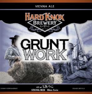 Hard Knox Brewery Grunt Work Vienna Ale Craft Beer Label