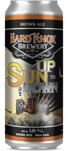 Hard Knox Brewery Craft Beer Sun Up to Sun Down Brown Ale