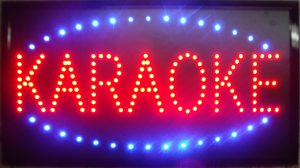 Hard Knox Brewery Craft Beer Karaoke Neon Sign Illuminated Red and Blue