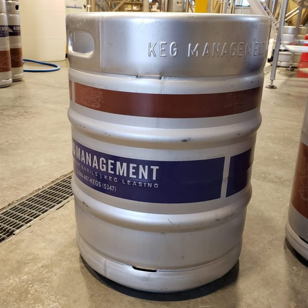 Hard Knox Brewery 50 Litre Keg is Shown Sitting Atop of Concrete Surface
