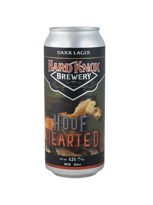 Hard Knox Brewery Hoof Hearted Dark Lager in Tall Can