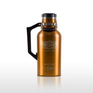 Hard Knox Brewery Growler is Displayed on Transparent Background Large Size