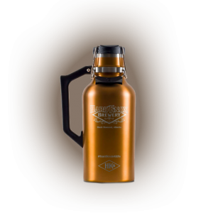 Hard Knox Brewery Growler is Displayed on Transparent Background Small Size