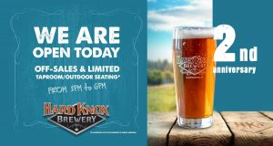 Hard Knox Brewery Second Anniversary Information Poster