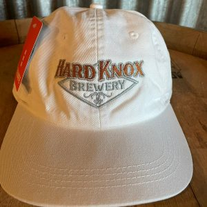 Hard Knox Brewery Embroidered Snapback in White with Colourful Logo
