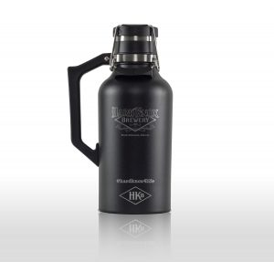 Hard Knox Brewery 64 Oz Refillable Double Walled Beer Growler in Black