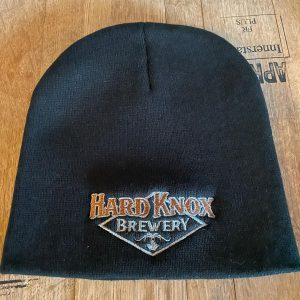 Hard Knox Brewery Black Unisex Beanie with Coloured Logo