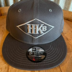 Hard Knox Brewery Embroidered Snapback in Dark Grey with Large Diamond Logo
