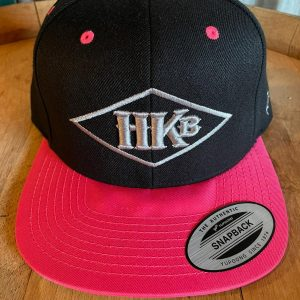 Hard Knox Brewery Embroidered Snapback in Hot Pink and Black with Large Diamond Logo