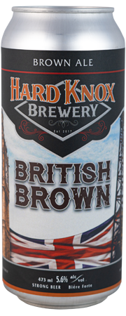 Hard Knox Brewery British Brown Brown Ale Tall Can